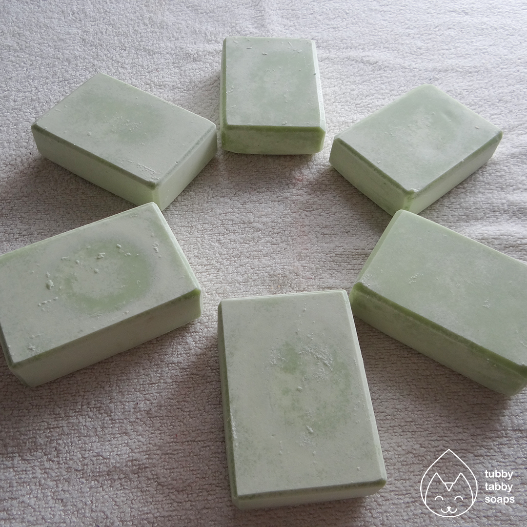 Grow a Pear (pear) handmade cold process soap by Tubby Tabby Soaps
