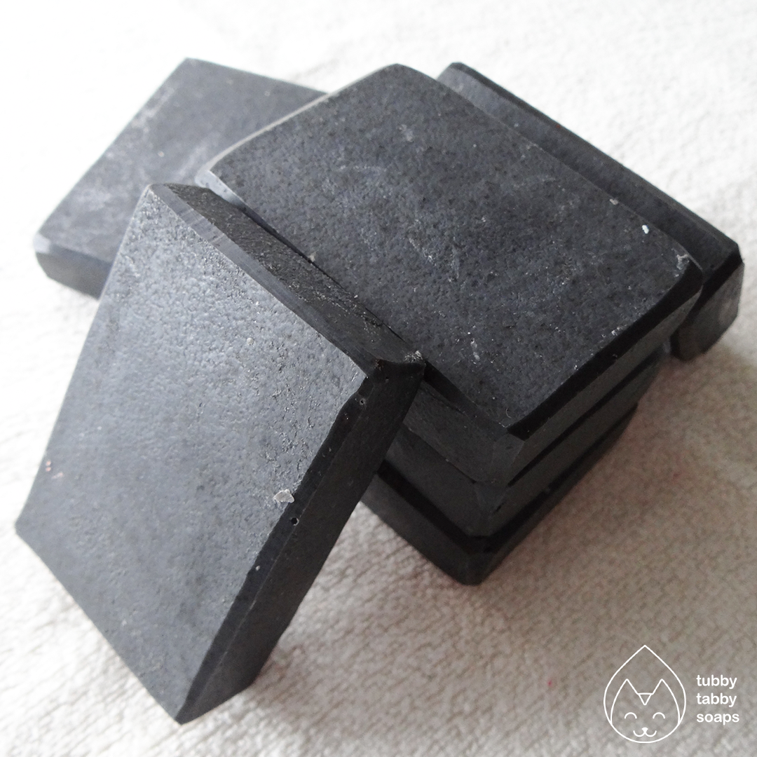 Lump of Coal (holiday spice) handmade soap by Tubby Tabby Soaps