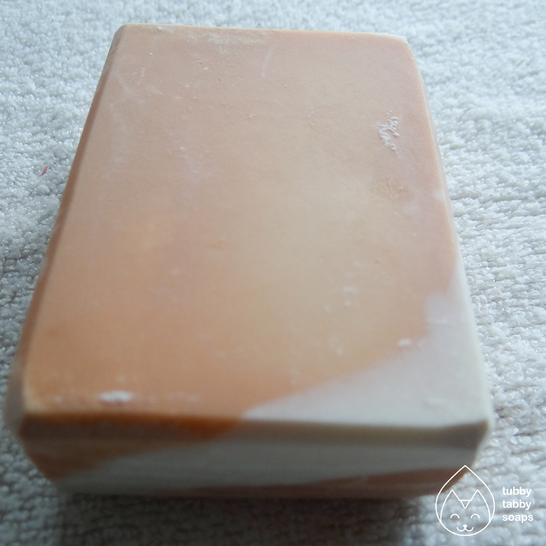 Peaches and Cream handmade cold process soap by Tubby Tabby Soaps