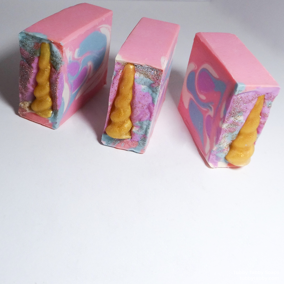 Unicorn Poop handmade soap for kids by Tubby Tabby Soaps