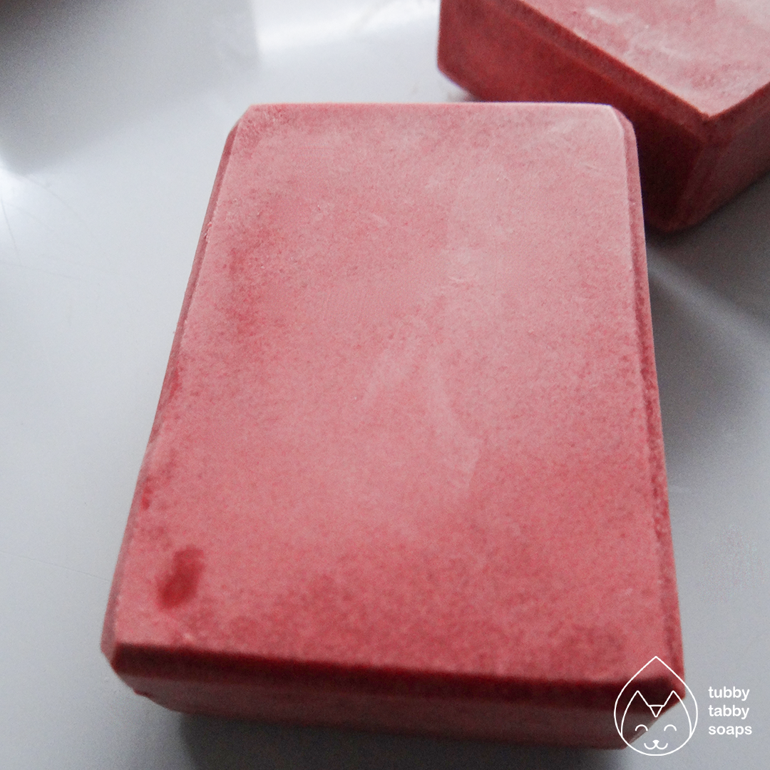 Cherry Soda (Classic Diner) handmade cold process soap by Tubby Tabby Soaps