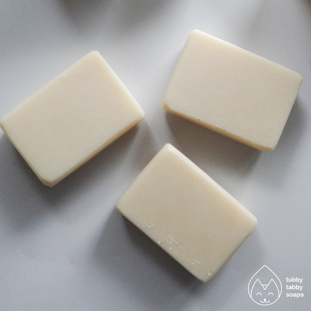 Rosemary Mint solid shampoo bar (Au Naturel) handmade cold process soap by Tubby Tabby Soaps