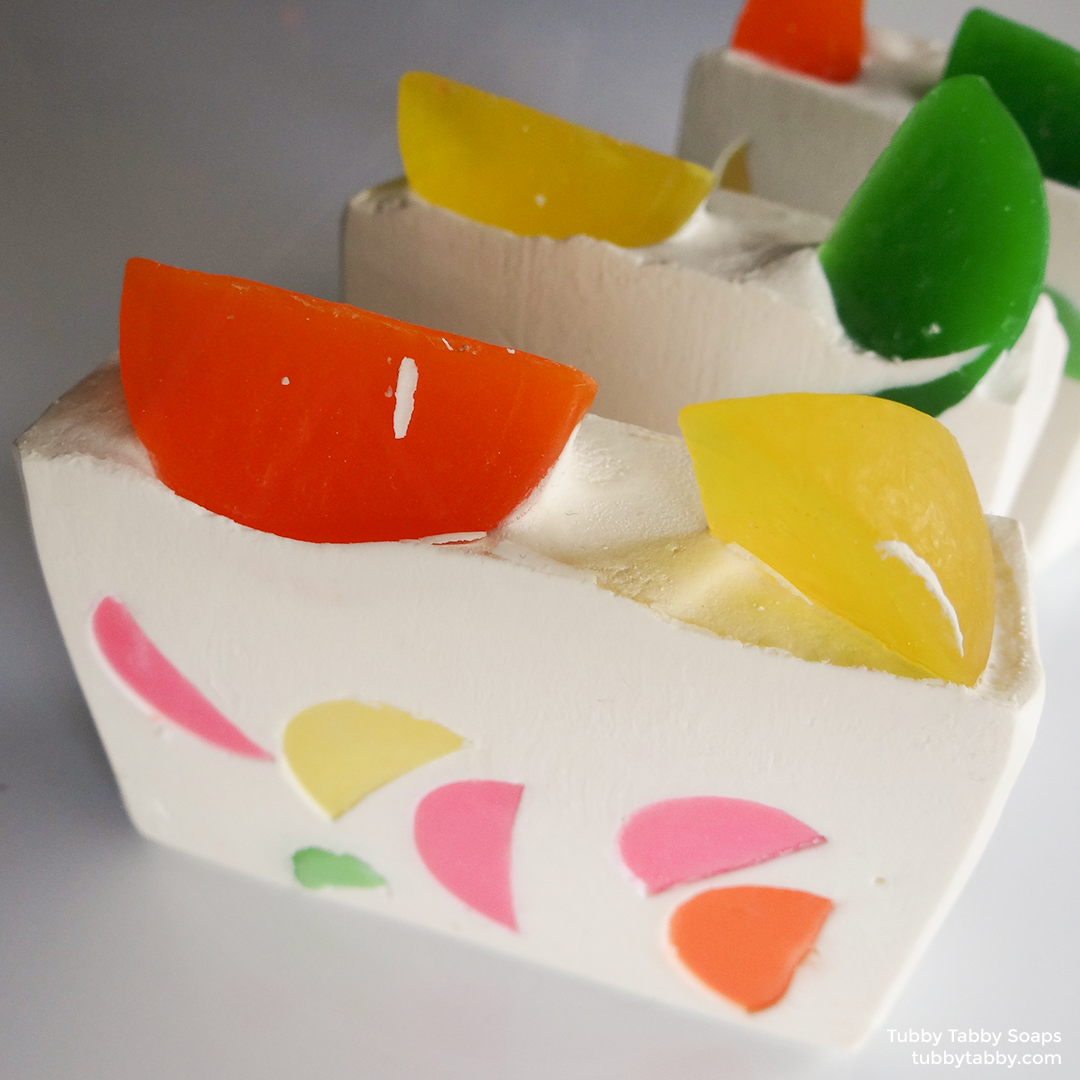 Fruit Slice handmade cold process soap (novelty soap) from Tubby Tabby Soaps
