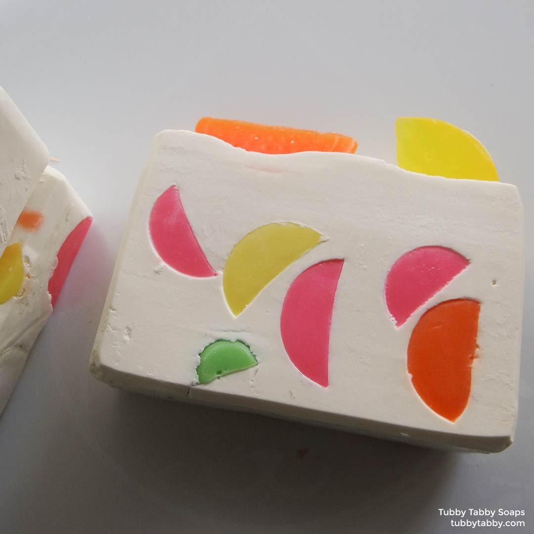 Fruit Slice handmade soap (cold process novelty soap) from Tubby Tabby Soaps