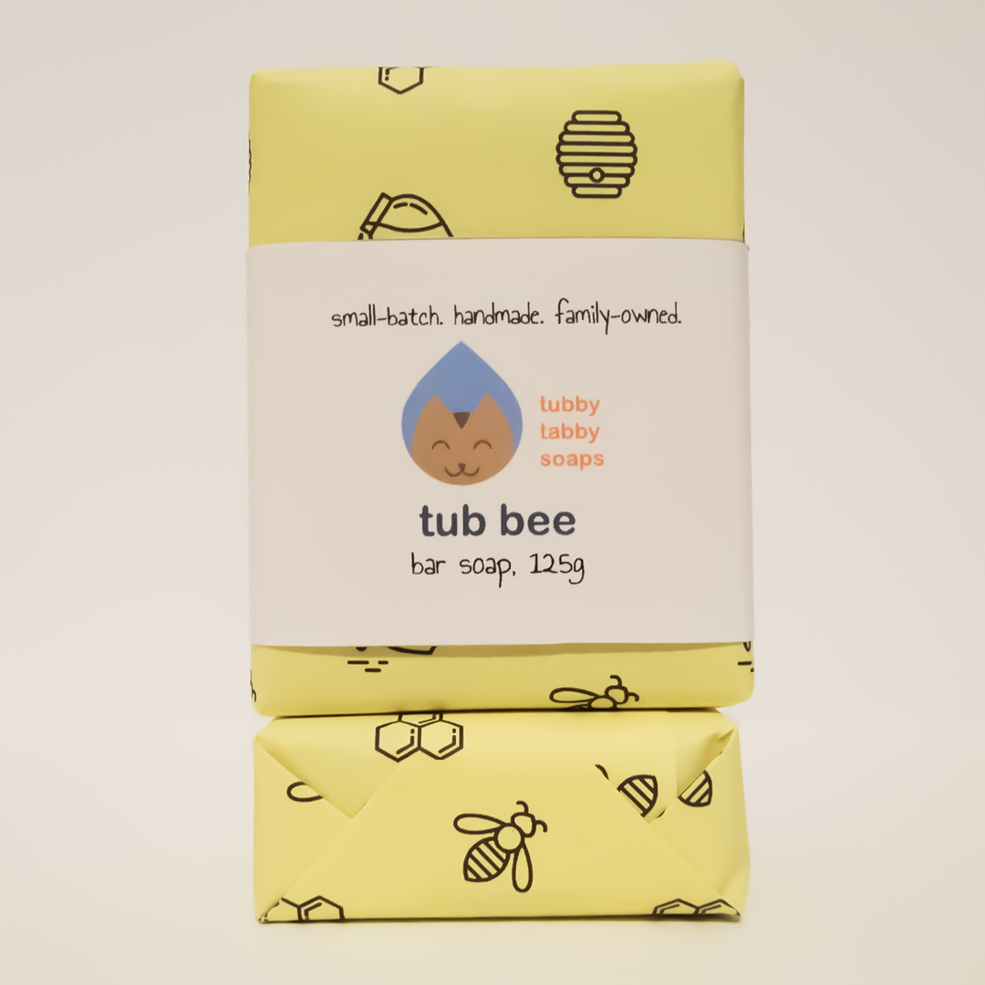 Tub Bee handmade soap (featuring raw organic and fair trade honey by African Bronze Honey Project) by Tubby Tabby Soaps