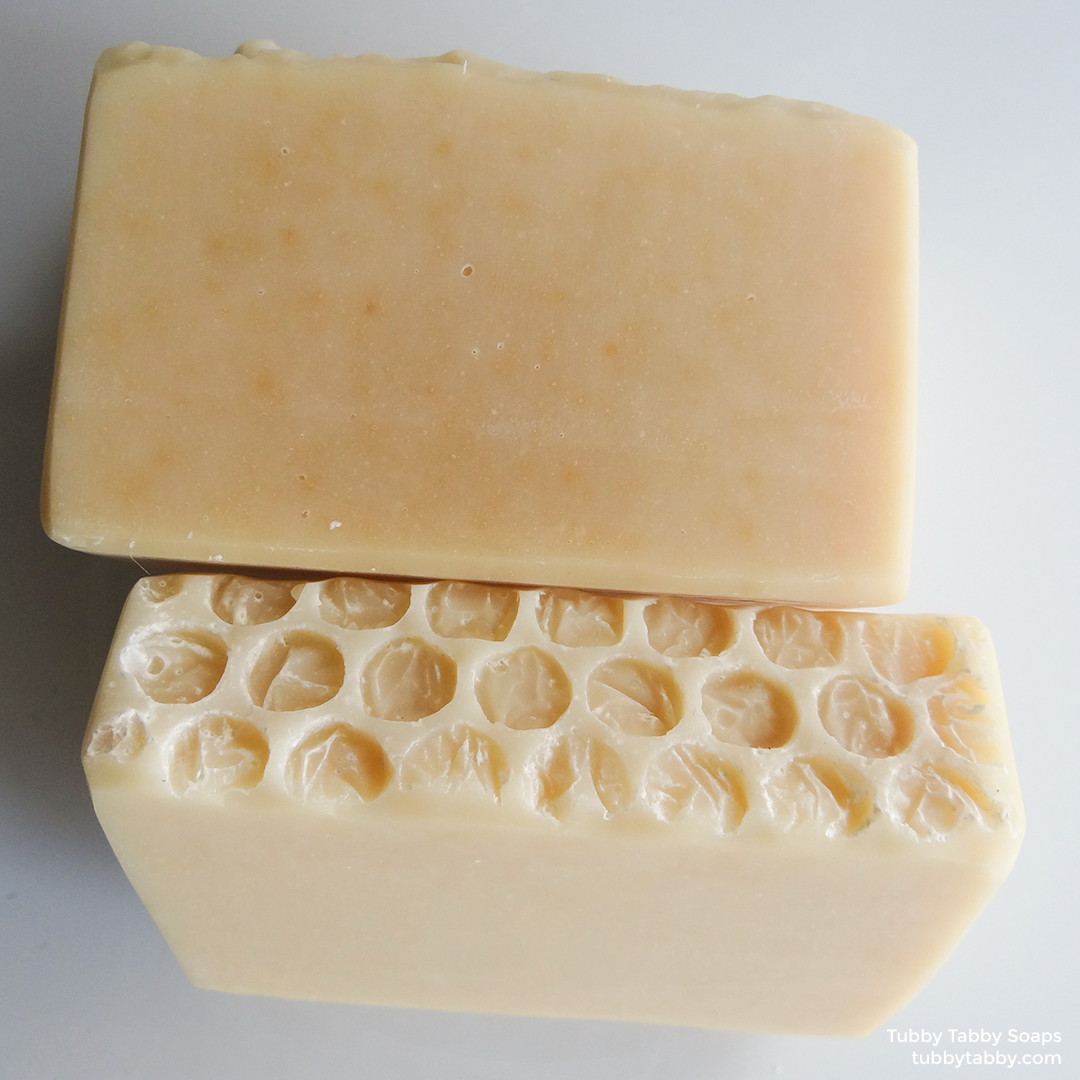 Tub Bee honey handmade soap (small batch cold process natural soap) by Tubby Tabby Soaps in Ottawa