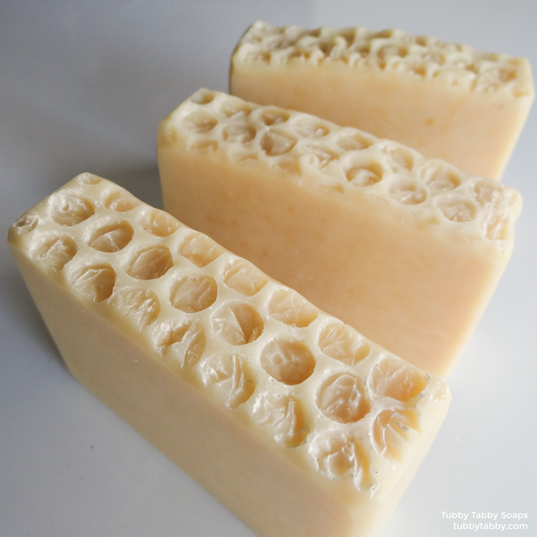 Tub Bee honey soap (handmade cold process natural soap) by Tubby Tabby Soaps in Ottawa