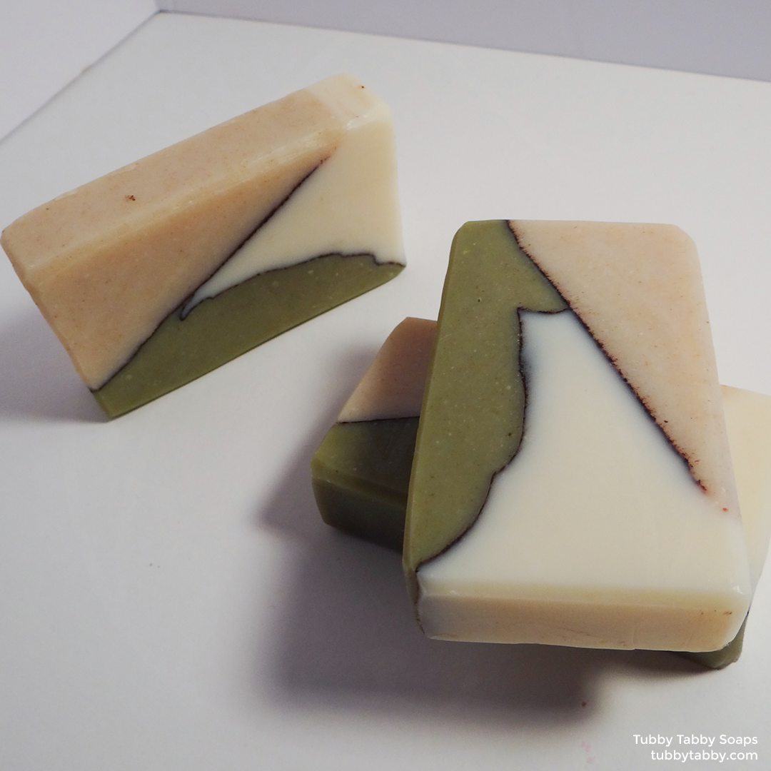 Green Smoothie artisanal handmade soap (small batch cold process soap) by Tubby Tabby Soaps in Ottawa