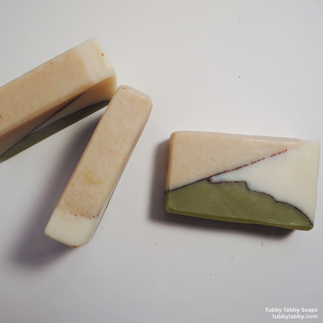 Green Smoothie handmade soap (small batch cold process soap) by Tubby Tabby Soaps in Ottawa