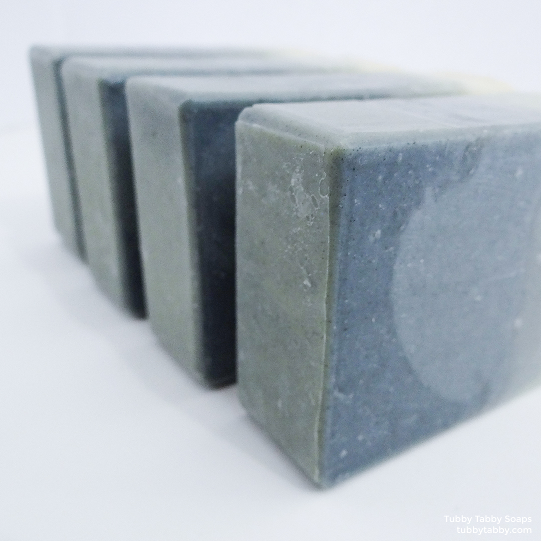 Haven't the Foggiest all-natural handmade soap by Tubby Tabby Soaps (naturally coloured with indigo powder, made locally in Ottawa)