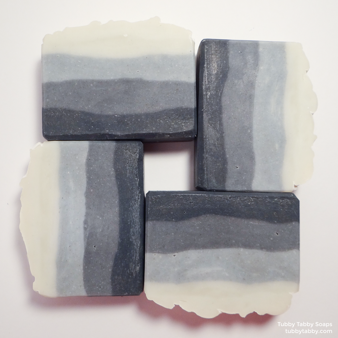 Haven't the Foggiest artisanal handmade soap (small batch cold process indigo soap) by Tubby Tabby Soaps in Ottawa