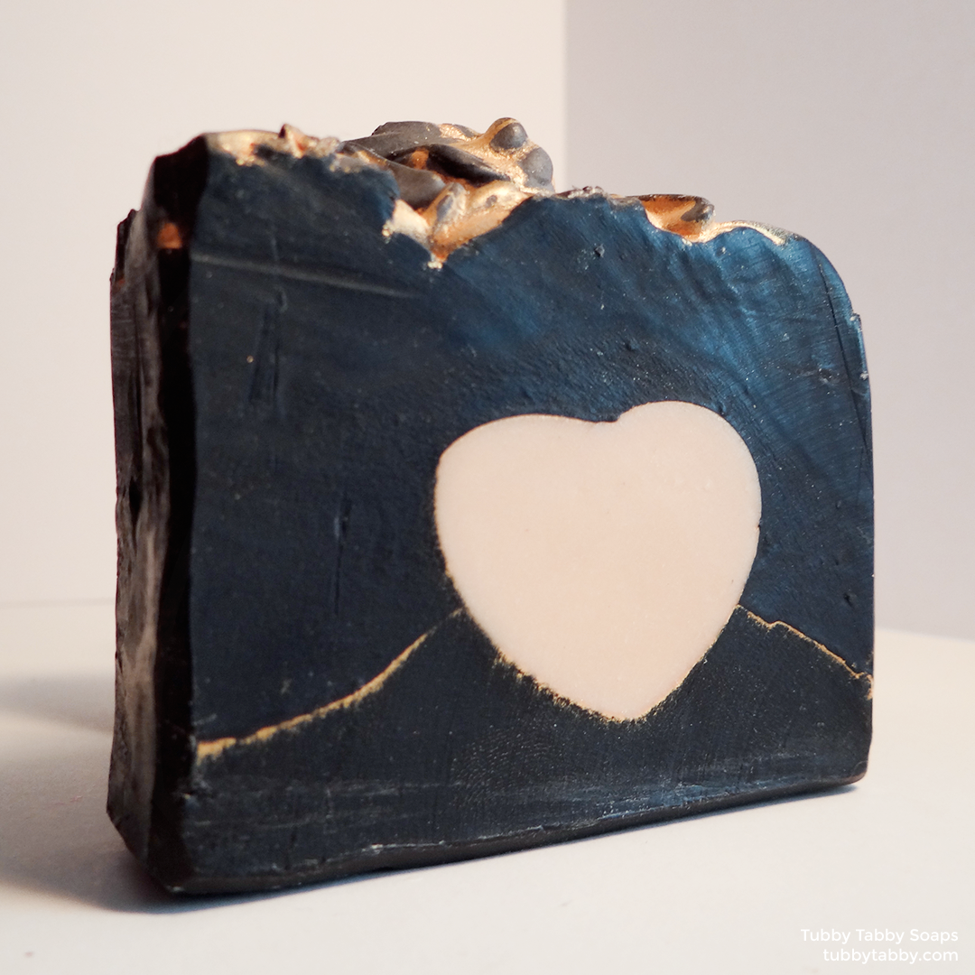 Heart of Gold soap (handmade small batch cold process soap) by Tubby Tabby Soaps in Ottawa