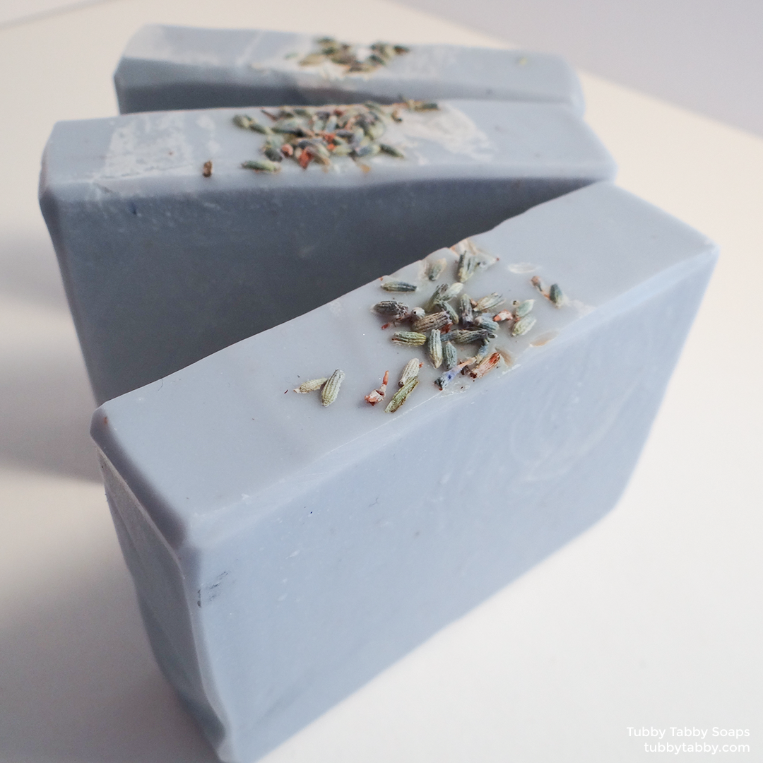 Lemon Lavender handmade soap (small batch cold process soap) by Tubby Tabby Soaps in Ottawa