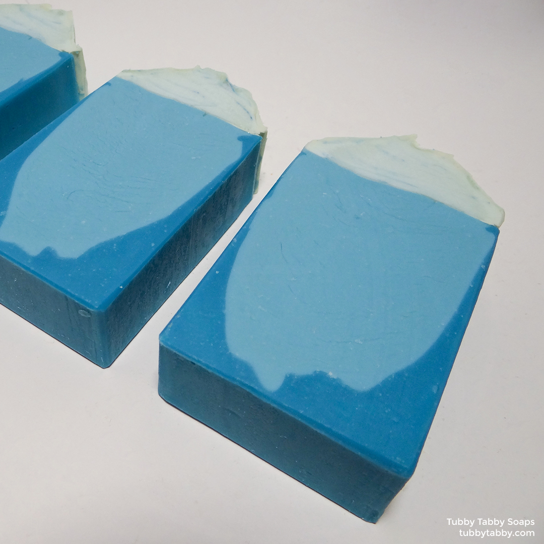 Iceberg artisan soap by Tubby Tabby Soaps