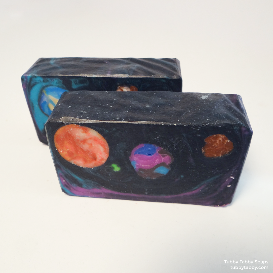 Intergalactic (galaxy planet) handmade soap by Tubby Tabby Soaps in Ottawa