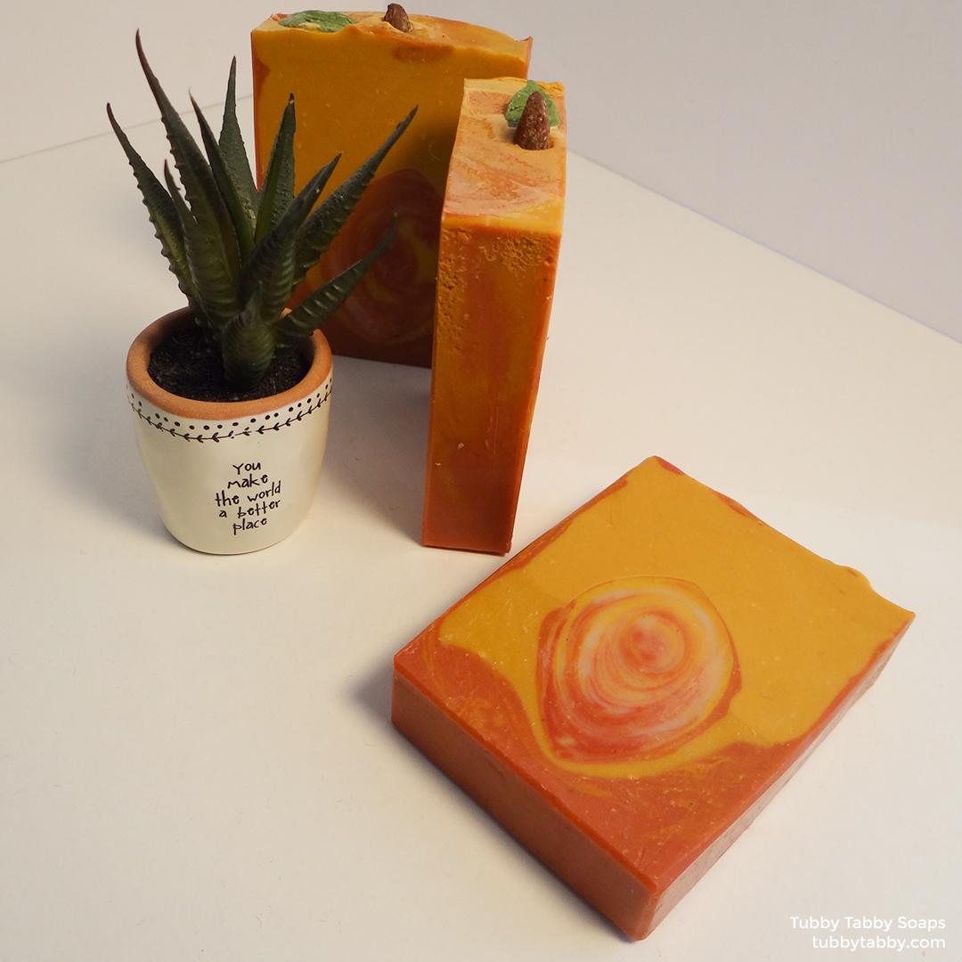 Peach Fuzz novelty handmade soap on Tubby Tabby Soaps
