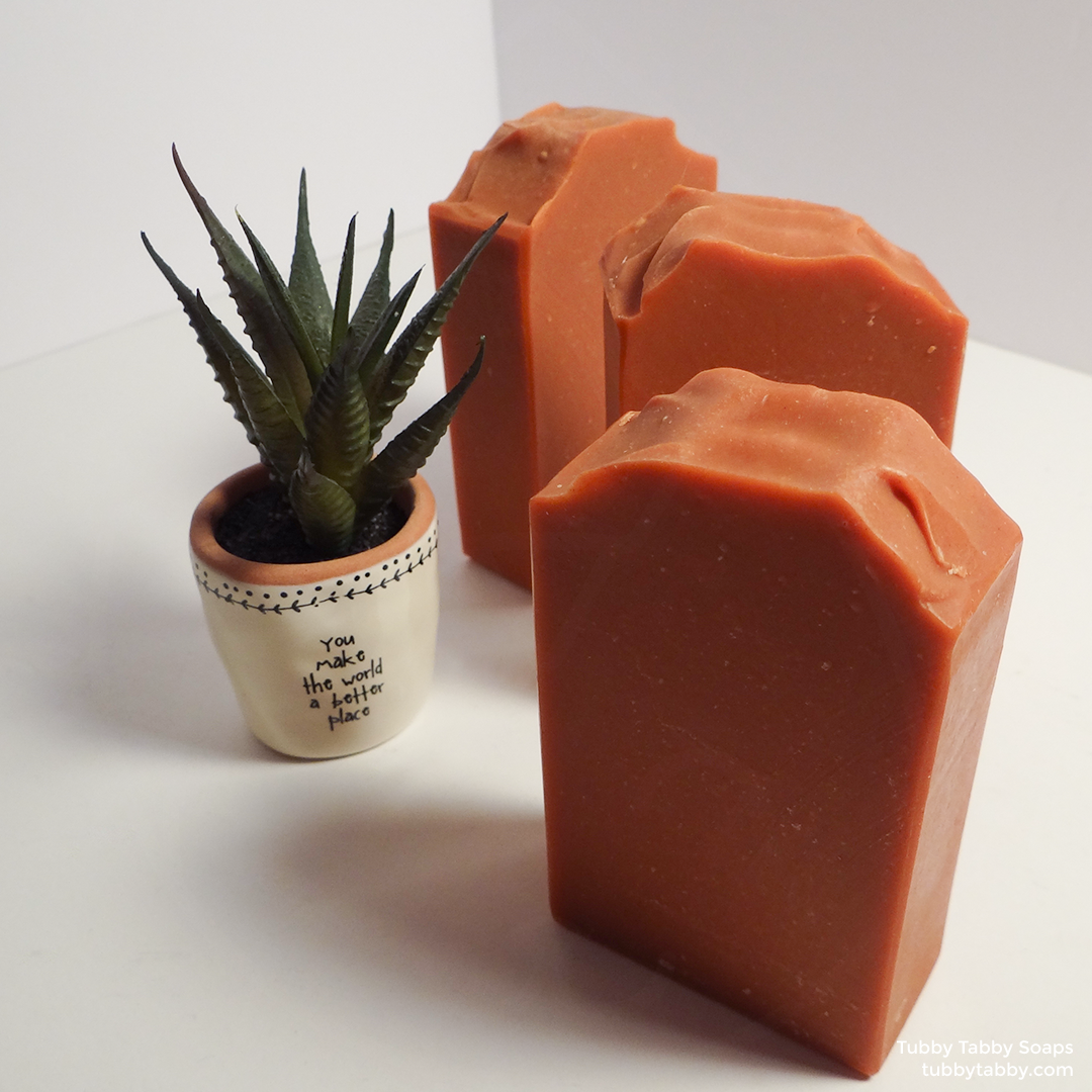Baked Clay natural handmade soap by Tubby Tabby Soaps