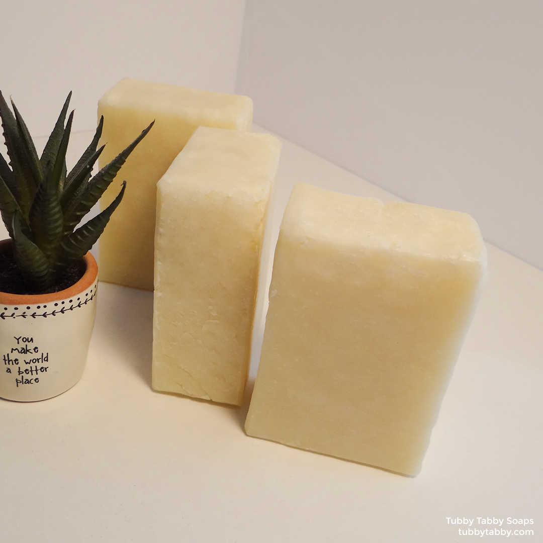 Naked unscented small batch handmade soap by Tubby Tabby Soaps