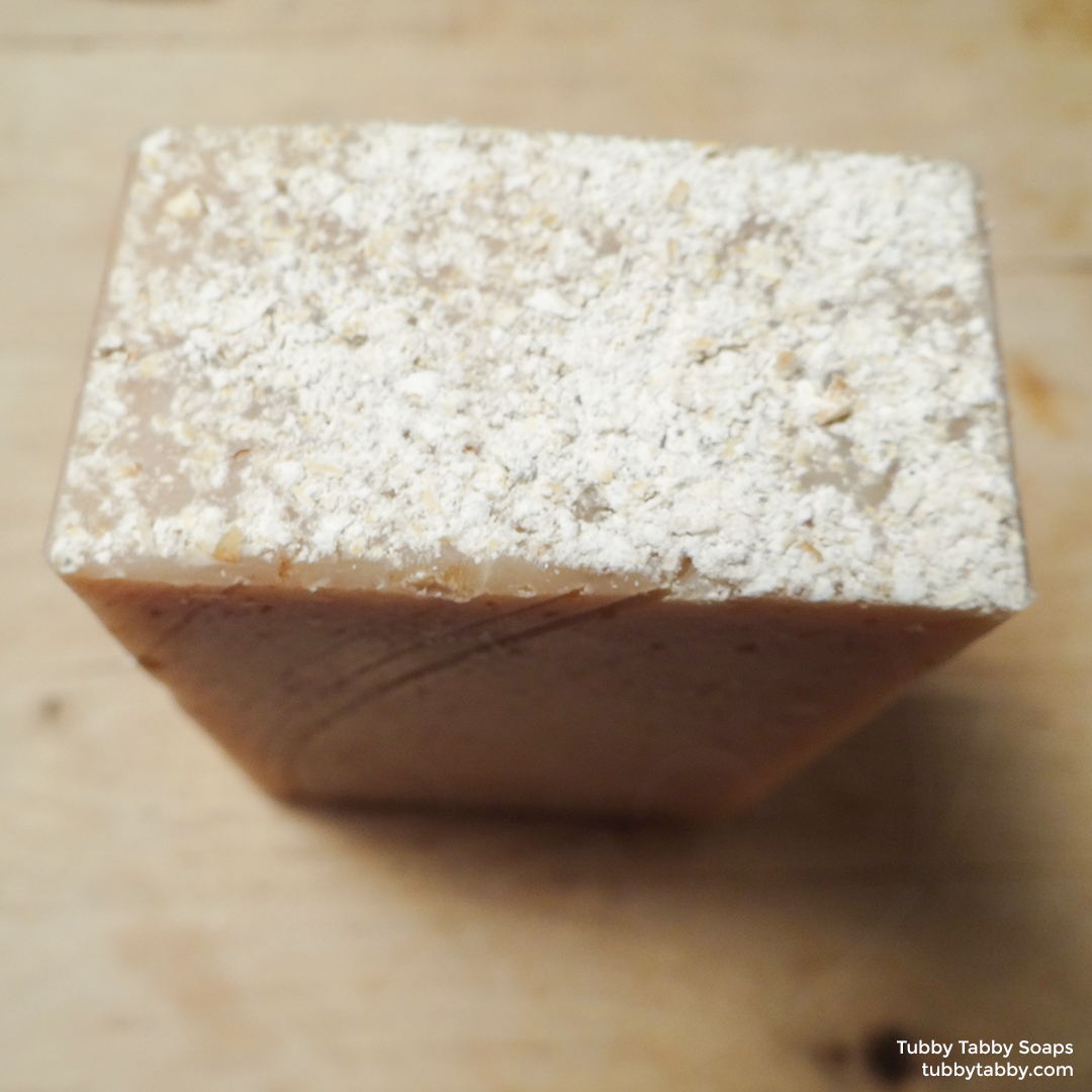 Oatmeal Milk and Honey artisan soap (exfoliating, moisturizing) by Tubby Tabby Soaps