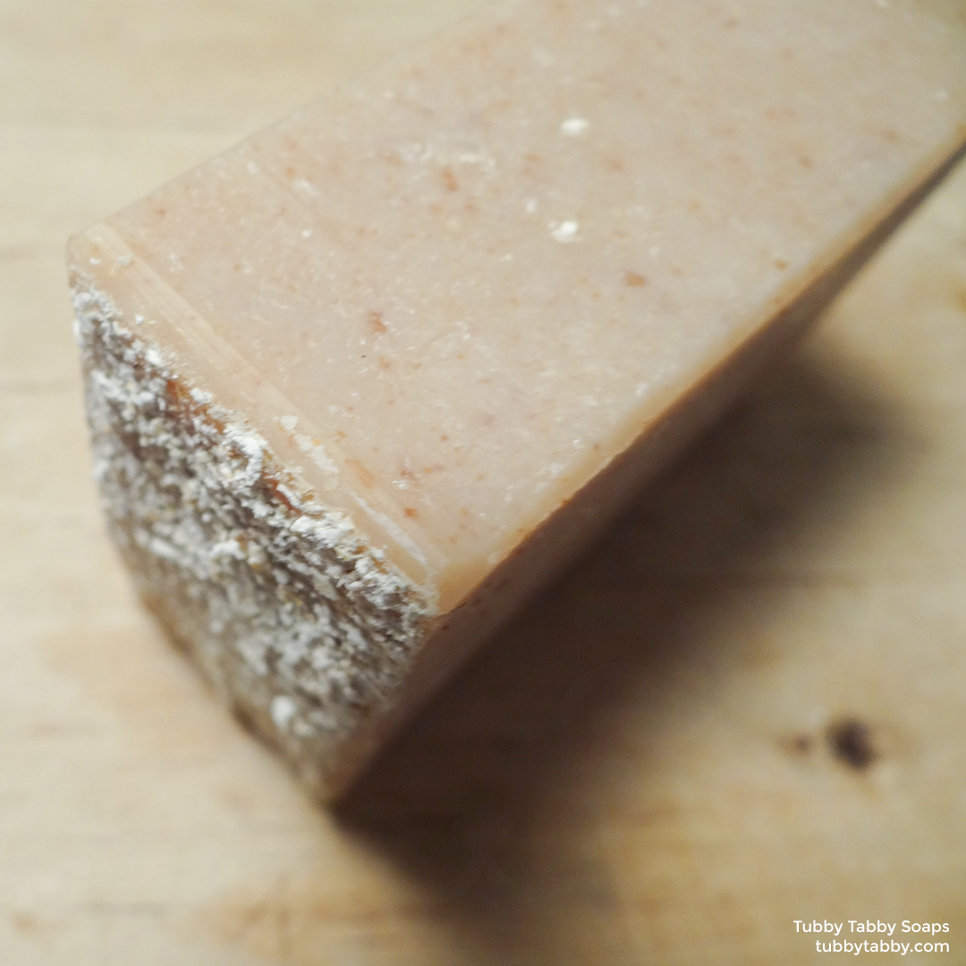 Oatmeal Milk and Honey handmade soap (exfoliating, moisturizing) by Tubby Tabby Soaps