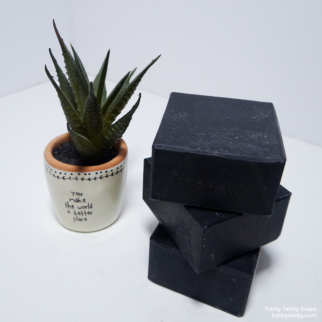 Charcoal Facial handmade artisan soap by Tubby Tabby Soaps