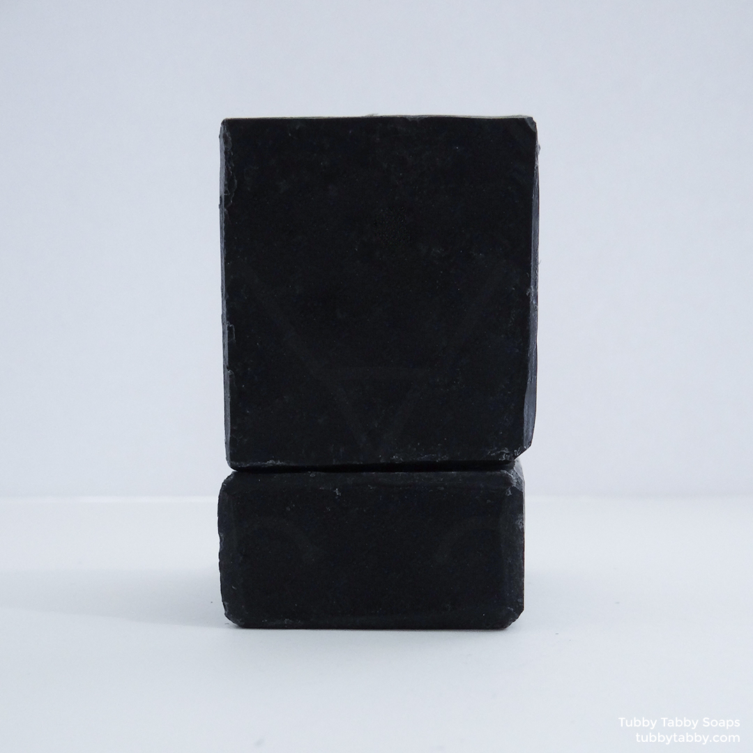 Charcoal Facial unscented handmade soap (artisanal, vegan, fair trade) by Tubby Tabby Soaps