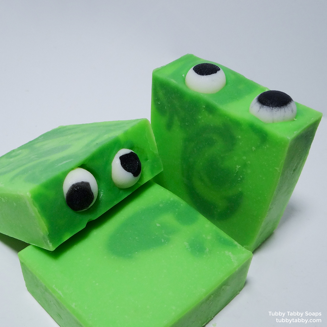 Slime Monster handmade artisan soap by Tubby Tabby Soaps