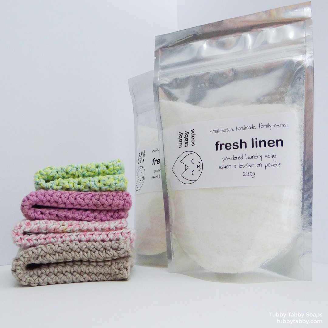 Fresh Linen powdered laundry soap (all natural, concentrated, handmade) by Tubby Tabby Soaps