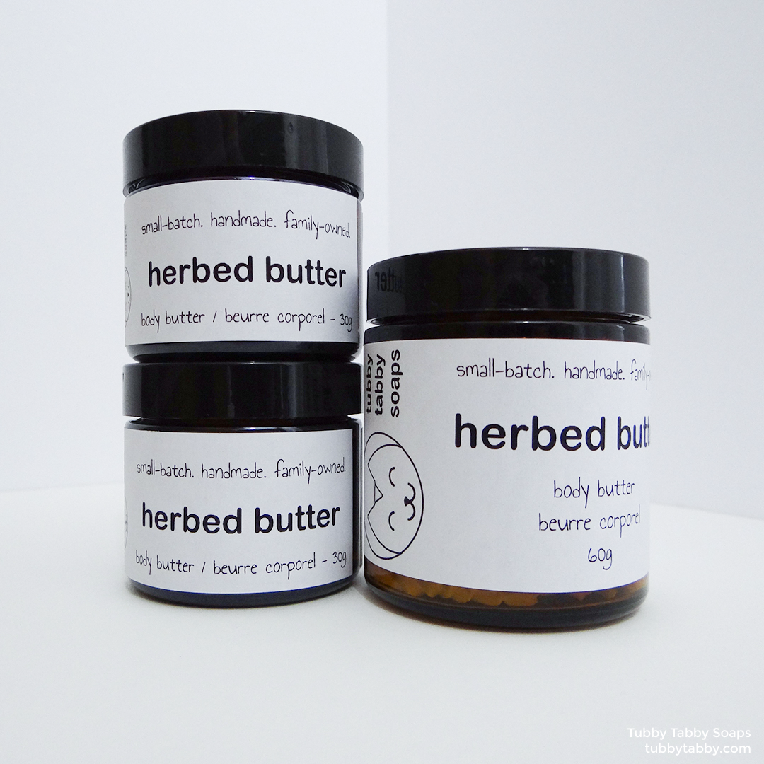 Herbed Butter body butter (handmade, scented with lavender and rosemary essential oils) by Tubby Tabby Soaps