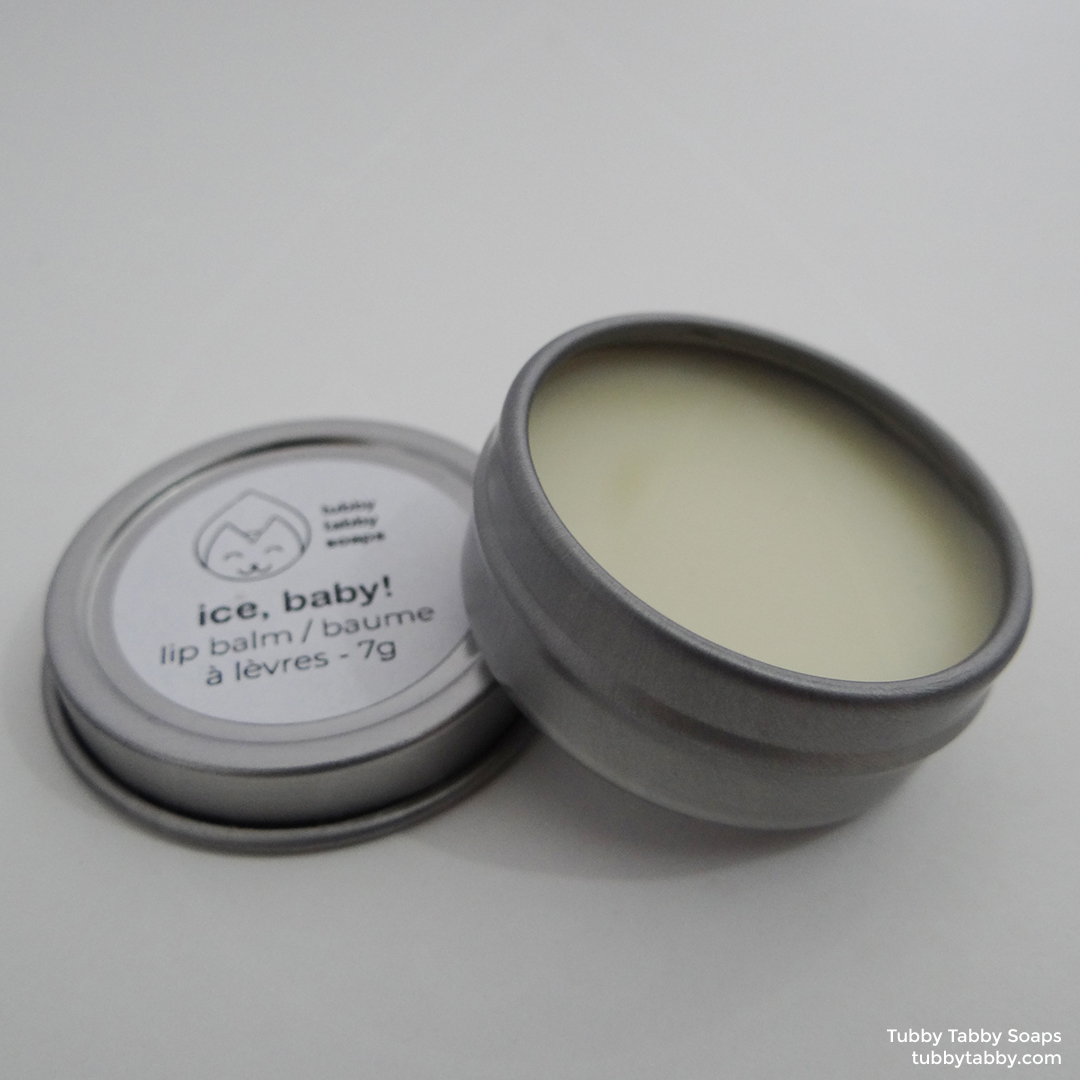 Ice, Baby! handmade all-natural lip balm by Tubby Tabby Soaps (locally made in Ottawa)