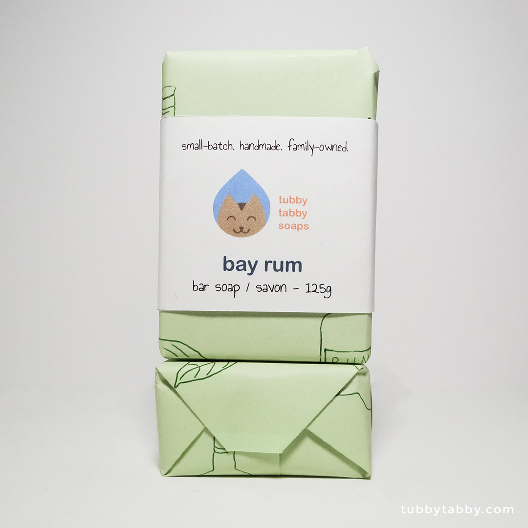 Bay Rum handmade soap by Tubby Tabby Soaps
