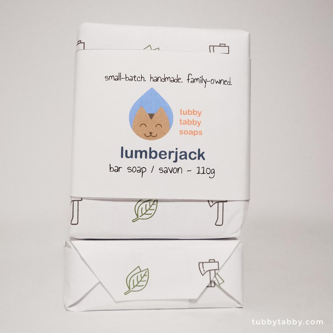 Lumberjack soap (package) by Tubby Tabby Soaps